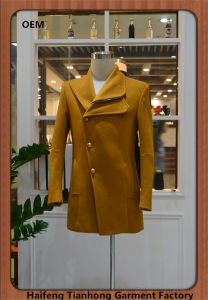 Fashion Coat for Man Yellow Leisure Jackets