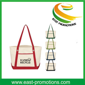 Imprinted Non Woven Bag with Color Trims pictures & photos