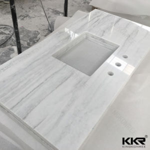Kingkonree Artificial Marble Custom Made Stone Countertop pictures & photos