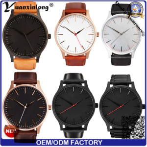 Yxl-158 Factory Directly Wrist Watch Genuine Leather Hand Men′s Watch Luxury Businessman Vogue Stainless Steel Promotional Watch pictures & photos