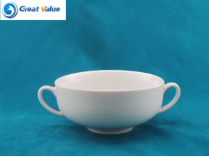 Wholesale Different Hotel Restaurant Enamel Soup Cup with 2 Handle pictures & photos