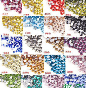 Non Hot Fix Glass Strass Crystal Rhinestone for Nail Craft (FB-SS6 white oppal) pictures & photos