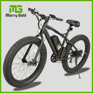 "Fashionable 26""*4.0 Inch Fat Tire Mountain Electric Bike 500W pictures & photos"