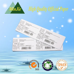 Adhesive Sticker Type and Paper, Art Paper Material Shipping Usage Code Bar Label pictures & photos