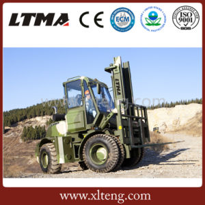 New Product 5 Ton Diesel All Terrain Forklift Truck Sales pictures & photos
