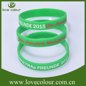 Custom Rubber Bracelet Band Silicone Wristband with Debossed Design pictures & photos