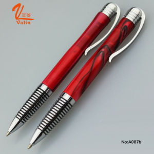 Classical Style Metal Pen Red Color Acrylic Ball Pen pictures & photos