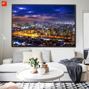 Large HD Print View of Downtown Canvas Print pictures & photos