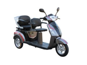 Electric Double Seat Passenger Tricycle for Old People and Disabled People pictures & photos