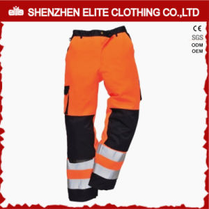 Orange Brown Reflective Cargo Cotton Workwear Pants (ELTHVPI-28) pictures & photos