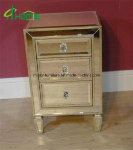 Bedroom Handmade Mirrored Nightstand/Mirrored Bedside Table for Home Decor pictures & photos