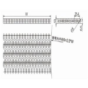 Modular Belts Sideflexing (WZ-2540T) pictures & photos