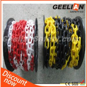 8mm Plastic Black and Yellow Safety Chain, Caution Safety PE Traffic Warning Decorative Chain pictures & photos
