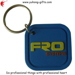 Promotional PVC Keyring with Embossed Logo (YH-KC012) pictures & photos