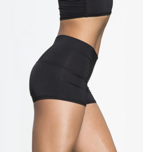Plain Gym Wear Seamless Middle Waistband Yoga Womens Lycra Shorts pictures & photos