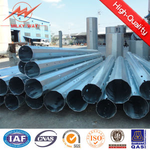 Hot DIP Galvaning 10m & 12m Electric Pole with Bitumen for Transmission pictures & photos