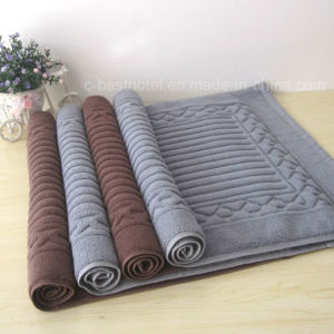 Factory Supply 100 % Cotton Jacquard Hotel Floor Towel pictures & photos
