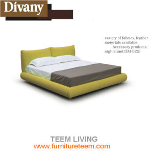 Modern Solid Wood King Size Bed pictures & photos