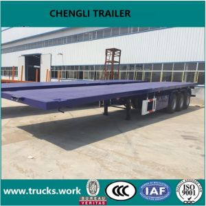 40FT Container Semitrailer Transportation Flatbed Semitrailer pictures & photos