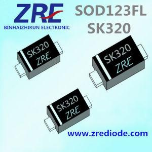 3A Sk32FL Thru Sk320FL Schottky Barrier Rectifier Diode SOD123FL Package pictures & photos