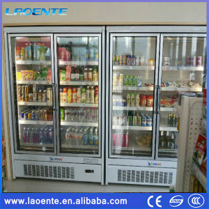 Full Glass Door Refrigerator Stand for Beverage Dan Dairy Sale pictures & photos