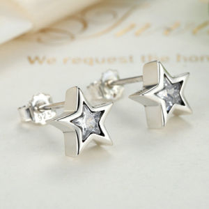 Women Star Shape Jewelry Silver Stud Earrings pictures & photos