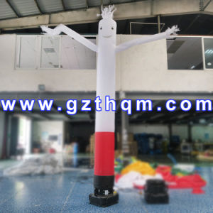 Customized White Inflatable Sky Dancer Tube One Leg Air Dancer 4m Size pictures & photos
