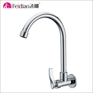 Hot Sale High Quality Brass Chromed Plated Cold Water Kitchen Sink Tap pictures & photos