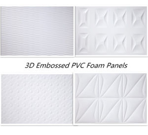 Good Price Embossed PVC Plastic Sheet Patterned PVC Foam Sheets for Exhibition. pictures & photos