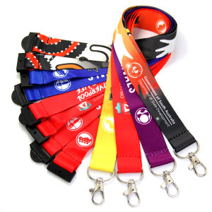 Custom Printed Neck Football Polyester Nylon Sublimation Lanyard pictures & photos