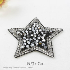 Custom Stickers Resin Star Ab Color Becone Beads Iron on Patches (HF-Star) pictures & photos