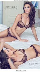 2016 New Comfort Bra Set Ladies Sexy Net Bra Sets pictures & photos