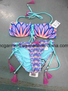 Black Printed Beachwear Bikini Triangle Swimwear Bikini for Woman/Lady pictures & photos