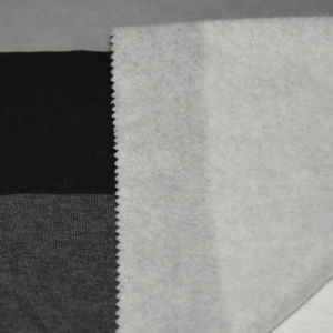 290GSM Cotton/Polyester Stripe Fleece for Sweater pictures & photos