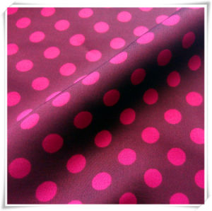 100% Polyester Fabric, Stretch Satin Chiffon DOT Printed for Garment pictures & photos