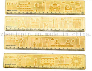 OEM Hot Sale School Office Wooden Straight Ruler pictures & photos