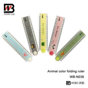 Cute Animal Folding Plastic Ruler for School and Office Stationery pictures & photos