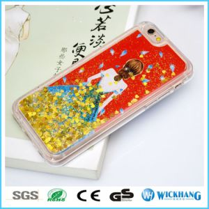 Pattern Bling Liquid Glitter Water Sparkly Stars Bling Hard TPU Case for iPhone 6 7 Plus pictures & photos