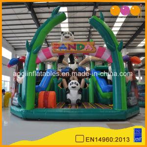 Panda Fun City Inflatable Bouncer Slide Amusement Park (AQ01739-1) pictures & photos