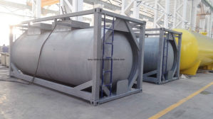 T50 Liquied Gas Tank Container for Chlorine, Ammonia, R134A, R22, Butune, Propene, Refrigerant Gas pictures & photos