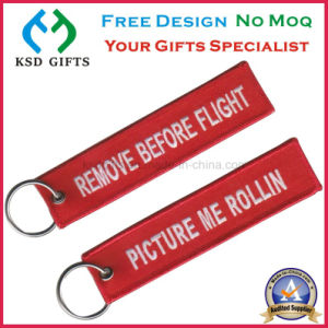 Fashion Factory Price Remove Before Flight Polyester Key Chain pictures & photos