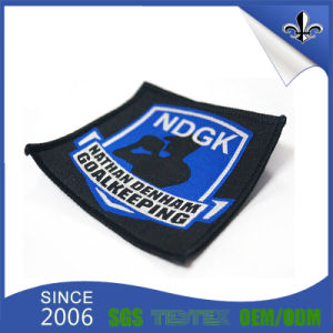 Garment Clothing Badge Custom Fabric Woven Label pictures & photos