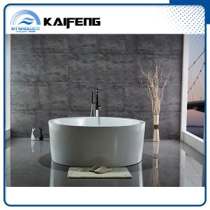 Luxury Two Person Freestanding Round Bathtub with Seat (KF-759) pictures & photos