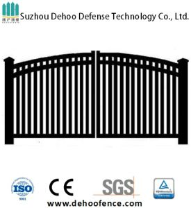 Modern Simple Free Maintenance Residential Arched Garden Double Wing Gate pictures & photos