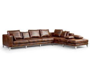 Big L Shape Leather Sofa, Corner Sofa, Italian Leather Sofa Yh-305 pictures & photos
