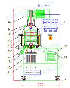 5L Vacuum Homogenizer for Hair Conditioner (HR-50A) pictures & photos