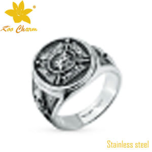Classic China Stainless Steel Carved Ring Jewelry