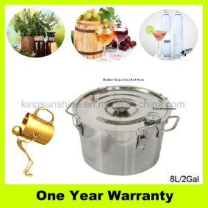Kingsunshine 8L/2gal Home Brew Equipment Stainless Steel Water Distiller with Good Price pictures & photos