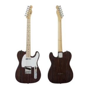 2017 New Solid Zebrawood Tele Style Electric Guitar for Sale pictures & photos