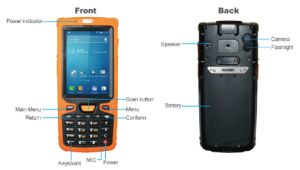 Rechargeable Bar Cod Reading Android RFID PDA pictures & photos